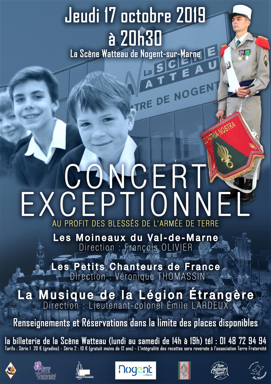 Concert de la MLE jeudi 17 octobre 2019 à 20h30 au théâtre de la salle Watteau à Nogent sur Marne  . Concert_MLE_Octobre